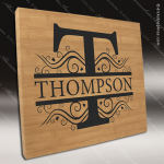 Embossed Etched Leather Wall Decor and Signage -Bamboo Bamboo Leather Items