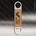 Embossed Etched Leather Bottle Opener -Bamboo Bamboo Leather Items