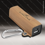 Embossed Etched Leather 2200mAh Power Bank -Bamboo Bamboo Leather Items