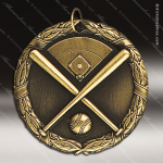 Medallion XR Series Baseball Medal with Field Baseball Medals