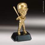 Resin Metallic Bobble Head Series Baseball Male Trophy Award Baseball Trophies