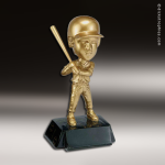 Resin Metallic Bobble Head Series Baseball Female Trophy Award Baseball Trophies