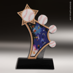 Resin Sports in Motion Series Baseball Trophy Award Baseball Trophies