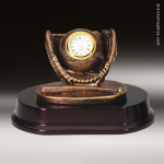 Desk Gift Premium Resin Bronze Series Baseball Clock Award Baseball Trophies