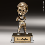 Resin Tyke Bobble Head Series Baseball Male Trophy Award Baseball Trophies