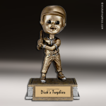 Resin Tyke Bobble Head Series Baseball Female Trophy Award Baseball Trophies