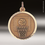 Medallion Sunray Series Basketball Medal Basketball Medallions & Medals