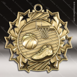 Medallion Ten Star Series Basketball Medal Basketball Medals