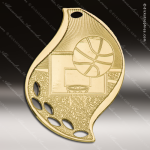 Medallion Gold Flame Series Basketball Medal Basketball Medals