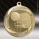 Medallion Laurel Wreath Series Basketball Medal Basketball Medals