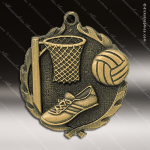 Medallion Wreath Series Netball Medal Basketball Medals