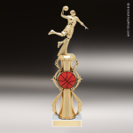 Trophy Builder - Basketball Riser - Example 4 Basketball Trophies