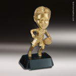 Resin Metallic Bobble Head Series Basketball Male Trophy Award Basketball Trophies