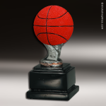 Resin Color Ball Pedestal Series Basketball Trophy Award Basketball Trophies