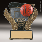 Resin Midnight Wreath Series Basketball Trophy Award Basketball Trophies