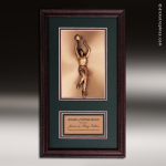 Corporate Framed Plaque Roman Edge Basketball Female Wall Placard Award Basketball Trophies