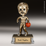 Resin Tyke Bobble Head Series Basketball Male Trophy Award Basketball Trophies