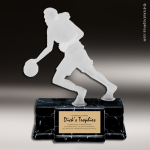 Resin Frosted Action Series Basketball Female Trophy Award Basketball Trophies