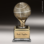 Resin Antique Ball Pedestal Series Basketball Trophy Award Basketball Trophies
