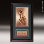 Corporate Framed Plaque Roman Edge Basketball Male Wall Placard Award Basketball Trophy Awards