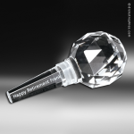 Crystal Clear Cabernet Wine Stopper Trophy Award Beverage Barware Bowl & Stemware