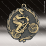 Medallion Wreath Series Cycle Medal - BMX Bike Motorcycle Medals