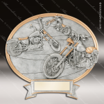 Kids Resin Legend Series Oval Motorcycle Trophy Awards - Chopper Bike/Motorcycle Trophy Awards