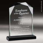Acrylic Black Accented Faceted Cornerstone Trophy Award Black Accented Acylic Awards