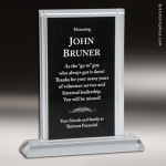 Acrylic Black Accented Billboard Rectangle Screened Black Trophy Award Black Accented Acylic Awards