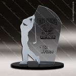 Acrylic Black Accented Arch Golf The Follow Through Trophy Award Black Accented Acylic Awards