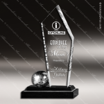 Acrylic Black Accented Peak Wired In Trophy Award Black Accented Acylic Awards