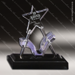 Acrylic Black Accented Star Catcher Purple Ribbon Trophy Award Black Accented Acylic Awards