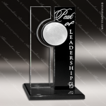 Acrylic Black Accented Rectangle Silver Moon Trophy Award Black Accented Acylic Awards