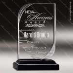 Acrylic Black Accented Arch Swoosh Trophy Award Black Accented Acylic Awards