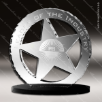 Acrylic Black Accented Star Round Trophy Award Black Accented Acylic Awards