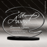 Acrylic Black Accented S Shaped Trophy Award Black Accented Acylic Awards