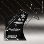 Acrylic Black Accented Star Shooting Trophy Award Black Accented Acylic Awards