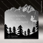 Acrylic Black Accented Forest Silhouette Trophy Award Black Accented Acylic Awards