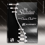 Acrylic Black Accented Wave Crevice Trophy Award Black Accented Acylic Awards