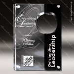 Acrylic Black Accented Floating Circle Cutout Trophy Award Black Accented Acylic Awards