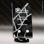 Acrylic Black Accented Rectangle Wired Trophy Award Black Accented Acylic Awards