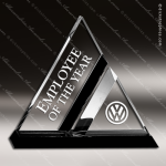 Acrylic Black Accented Dual Triangle Trophy Award Black Accented Acylic Awards