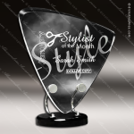 Acrylic Black Accented Triangle Wired Trophy Award Black Accented Acylic Awards