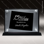 Acrylic Black Accented Silver US State Shaped Wyoming Trophy Award Black Accented Acylic Awards