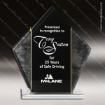 Acrylic Black Accented Square Diamond Trophy Award Black Accented Acylic Awards