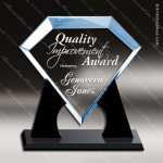Acrylic Blue Accented Diamond Award Black Accented Acylic Awards