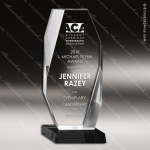 Acrylic Black Accented Clear Beveled Tower Award Black Accented Acylic Awards