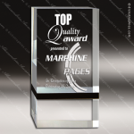 Acrylic Black Accented Free Standing Rectangle Trophy Award Black Accented Acylic Awards