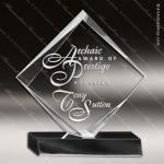 Acrylic Black Accented Clear Diamond Trophy Award Black Accented Acylic Awards