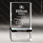 Acrylic Black Accented Rectangle Band Capri Trophy Award Black Accented Acylic Awards